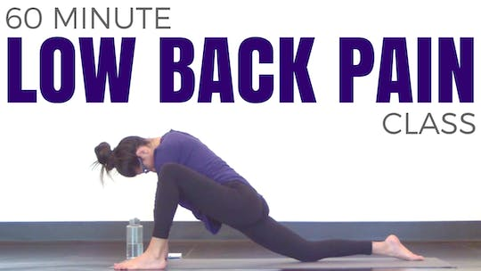 Instant Access to 60 minute Low Back Pain Hatha Yoga Class by Sarah Beth Yoga, powered by Intelivideo