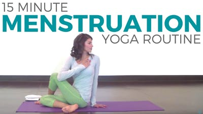 Instant Access to 15 Minute Yoga for During Your Period by Sarah Beth Yoga, powered by Intelivideo