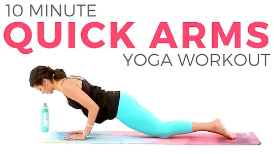Instant Access to 10 minute Quick Yoga Workout for Arms & Upper Body by Sarah Beth Yoga, powered by Intelivideo