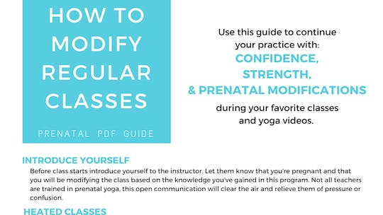 Instant Access to Prenatal Program - How To Modify Classes by Sarah Beth Yoga, powered by Intelivideo