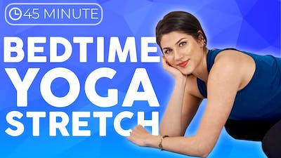45 minute Bedtime Yoga Stretch | Full Body Slow Stretch Hatha Yoga Class by Sarah Beth Yoga