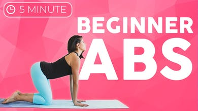 5 minute Ab & Core Strength Beginners Weight Loss by Sarah Beth Yoga