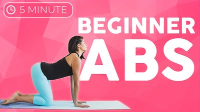 Instant Access to 5 minute Ab & Core Strength Beginners Weight Loss by Sarah Beth Yoga, powered by Intelivideo