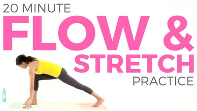 Instant Access to 20 minute Flow & Stretch Yoga Practice by Sarah Beth Yoga, powered by Intelivideo