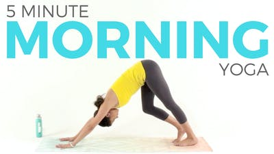 5 minute Morning Yoga Routine by Sarah Beth Yoga