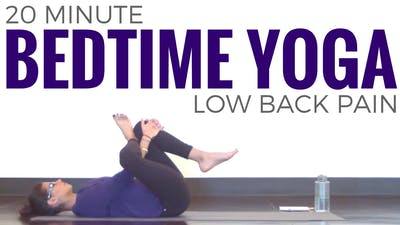 Instant Access to 20 minute Bedtime Yoga for Low Back Pain by Sarah Beth Yoga, powered by Intelivideo