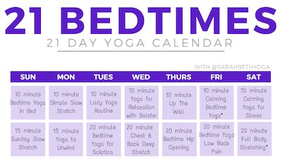 Instant Access to 21 Bedtimes by Sarah Beth Yoga, powered by Intelivideo