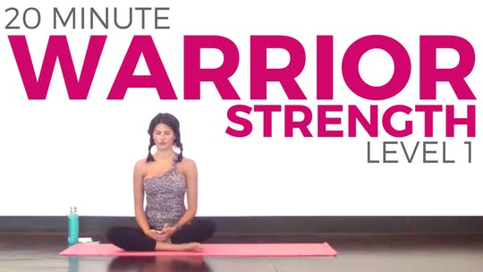 Instant Access to 20 minute Warrior Strength Yoga Routine - Level 1 by Sarah Beth Yoga, powered by Intelivideo