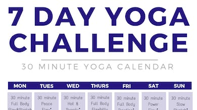 ROUND 2: 7 day yoga challenge by Sarah Beth Yoga