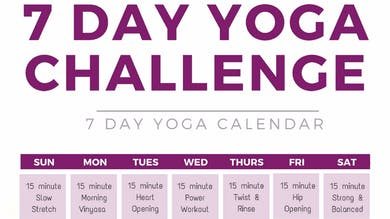 7 Day Yoga Challenge by Sarah Beth Yoga