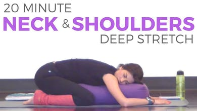 20 Minute Deep Stretch for Neck & Shoulders by Sarah Beth Yoga