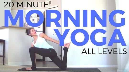 Instant Access to 20 Minute Morning Yoga Routine by Sarah Beth Yoga, powered by Intelivideo