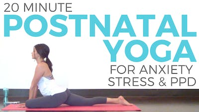 Instant Access to Postnatal Yoga for Stress, Anxiety & Tension by Sarah Beth Yoga, powered by Intelivideo