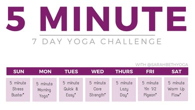5 Minute Challenge by Sarah Beth Yoga