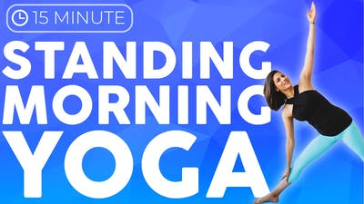 Morning Yoga Routine (15 minute yoga) Standing Yoga Stretch, Strength & Balance by Sarah Beth Yoga