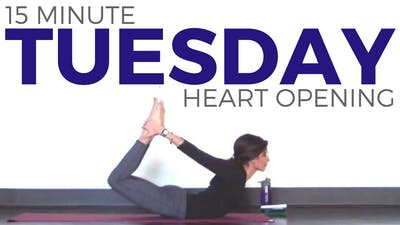 Instant Access to Tuesday - Heart Opening Yoga Routine by Sarah Beth Yoga, powered by Intelivideo
