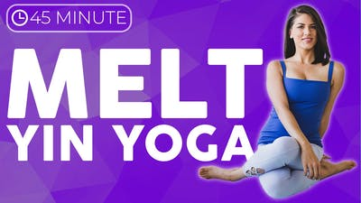 Instant Access to 45 minute Melt Yin Yoga Class by Sarah Beth Yoga, powered by Intelivideo