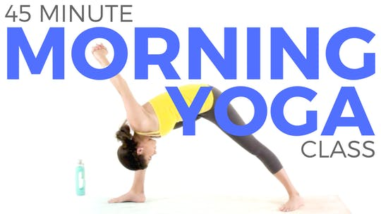 Instant Access to 45 minute Morning Flow Yoga Class by Sarah Beth Yoga, powered by Intelivideo