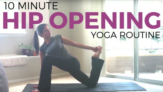 Instant Access to Gentle Hip Opening by Sarah Beth Yoga, powered by Intelivideo