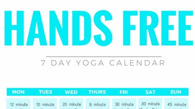 Instant Access to Hands Free Calendar by Sarah Beth Yoga, powered by Intelivideo