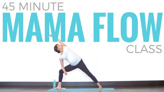 Instant Access to 45 minute Mama Flow - Prenatal Vinyasa Yoga by Sarah Beth Yoga, powered by Intelivideo
