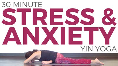 Instant Access to 30 minute Yin Yoga for Stress & Anxiety by Sarah Beth Yoga, powered by Intelivideo