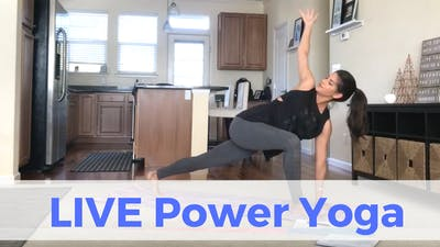 Instant Access to LIVE Power Yoga Challenge (recorded) by Sarah Beth Yoga, powered by Intelivideo