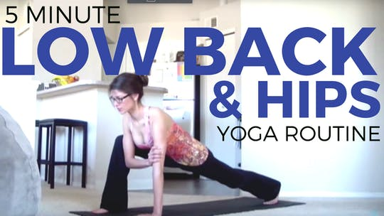 Instant Access to Daily Yoga Routine for Low Back & Hips by Sarah Beth Yoga, powered by Intelivideo