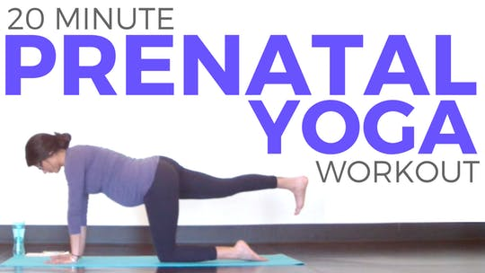 Instant Access to 20 minute Prenatal Yoga Workout for Strength & Flexibility by Sarah Beth Yoga, powered by Intelivideo