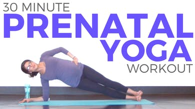 30 minute Prenatal Yoga Workout for Strength Flexibility by Sarah Beth Yoga