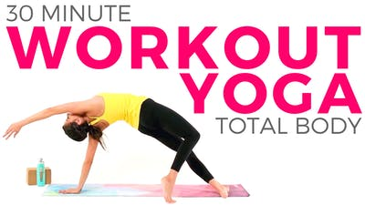 Instant Access to 30 minute Total Body Yoga Workout by Sarah Beth Yoga, powered by Intelivideo