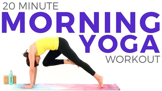 Instant Access to 20 minute Morning Yoga Workout for Weight Loss and Energy by Sarah Beth Yoga, powered by Intelivideo