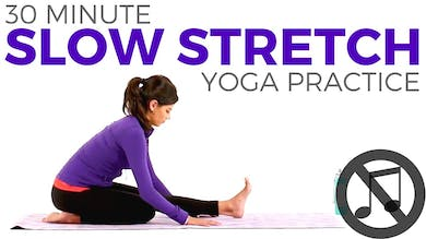 30 minute Slow Stretch Practice (NO MUSIC) by Sarah Beth Yoga