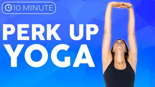 Instant Access to 10 minute Morning Yoga to Perk up & Improve Posture by Sarah Beth Yoga, powered by Intelivideo