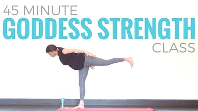 Instant Access to 45 minute Goddess Strength - Prenatal Power Yoga Class by Sarah Beth Yoga, powered by Intelivideo