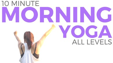 10 minute Mindful Morning Yoga Routine by Sarah Beth Yoga