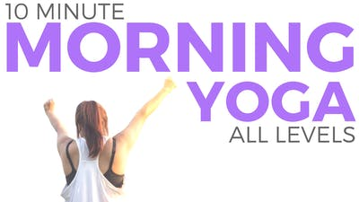 Instant Access to 10 minute Mindful Morning Yoga Routine by Sarah Beth Yoga, powered by Intelivideo