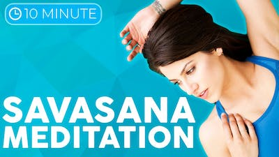 Instant Access to 10 minute Guided Relaxation Meditation in Savasana 💙 MELT your Body & Mind by Sarah Beth Yoga, powered by Intelivideo