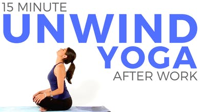 15 minute Yoga to Unwind After Work by Sarah Beth Yoga