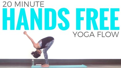 20 minute Hands Free Yoga Routine by Sarah Beth Yoga