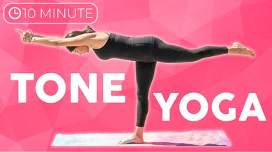 10 minute Yoga Workout | Tone Yoga Flow by Sarah Beth Yoga
