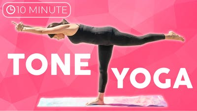 Instant Access to 10 minute Yoga Workout | Tone Yoga Flow by Sarah Beth Yoga, powered by Intelivideo