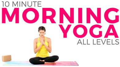 10 minute Morning Yoga Peace Flow - Beginner Friendly ALL LEVELS Routine by Sarah Beth Yoga