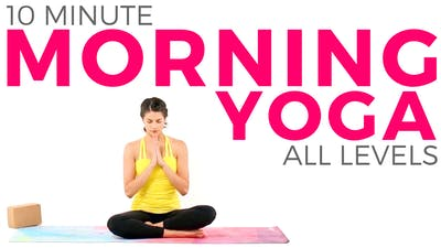 Instant Access to 10 minute Morning Yoga Peace Flow - Beginner Friendly ALL LEVELS Routine by Sarah Beth Yoga, powered by Intelivideo