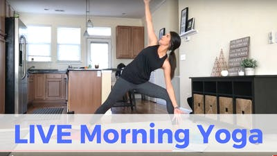 Instant Access to LIVE Morning Yoga Challenge (recorded) by Sarah Beth Yoga, powered by Intelivideo