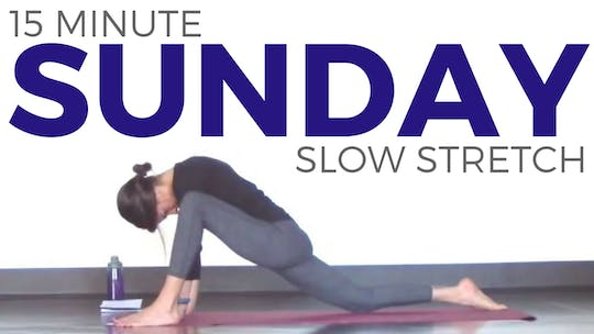 Instant Access to Sunday - Slow Stretch Restorative Yoga Routine by Sarah Beth Yoga, powered by Intelivideo