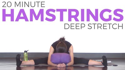 Instant Access to 20 Minute Deep Stretch For Hamstrings by Sarah Beth Yoga, powered by Intelivideo
