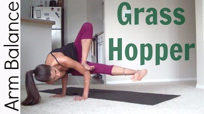 Instant Access to How to Grasshopper pose - Arm Balance by Sarah Beth Yoga, powered by Intelivideo