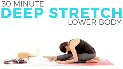 Instant Access to 30 minute Deep Stretch Lower Body Routine by Sarah Beth Yoga, powered by Intelivideo