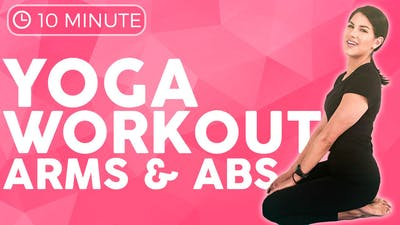10 minute Power Yoga Workout 🔥 EVOLVE your Chaturanga, Arms & Abs by Sarah Beth Yoga